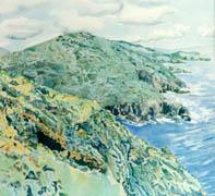 the beara penninsula, kerry, watercolor