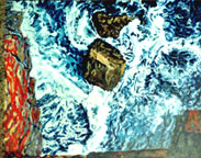 dun aengus, inishmor, oil on canvas
