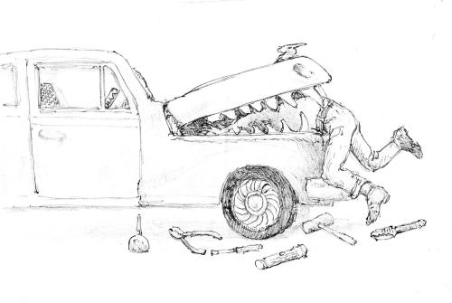 reversed-car